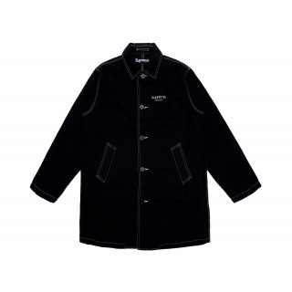 FW18 Supreme Washed Work Trench Coat Black