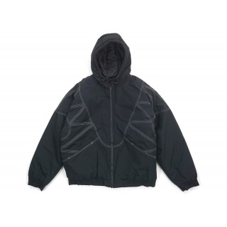 FW18 Supreme Zig Zag Stitch Puffy Jacket Black