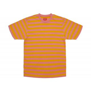 FW18 Supreme Bar Stripe Tee Pink