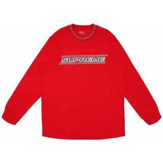 FW18 Supreme Bevel L/S Top Red