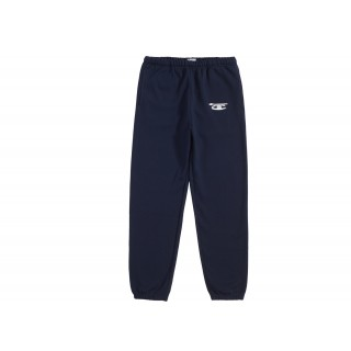 FW18 Supreme Champion 3D Metallic Sweatpant Navy
