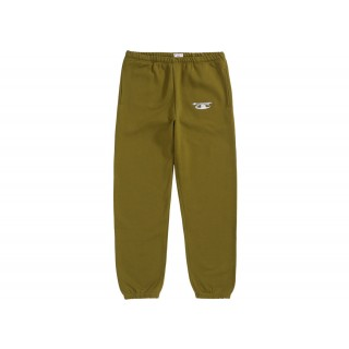 FW18 Supreme Champion 3D Metallic Sweatpant Olive