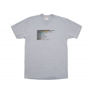 FW18 Supreme Chart Tee Heather Grey