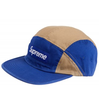 FW18 Supreme Contrast Panel Camp Cap Royal
