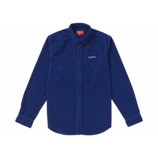 FW18 Supreme Corduroy Shirt Blue