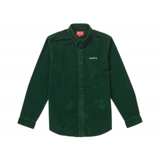 FW18 Supreme Corduroy Shirt Green