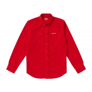 FW18 Supreme Corduroy Shirt Red