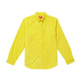 FW18 Supreme Corduroy Shirt Yellow