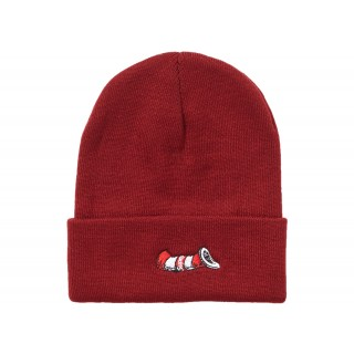 FW18 Supreme Cat in the Hat Beanie Burgundy
