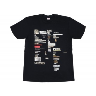 FW18 Supreme Cutouts Tee Black