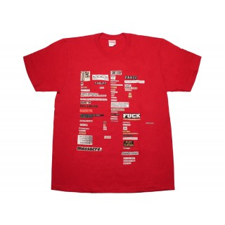 FW18 Supreme Cutouts Tee Red