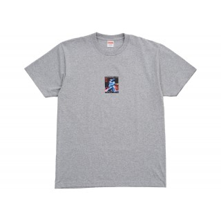 FW18 Supreme Cyber Tee Heather Grey