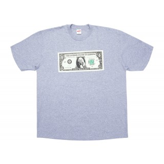 FW18 Supreme Dollar Tee Heather Grey