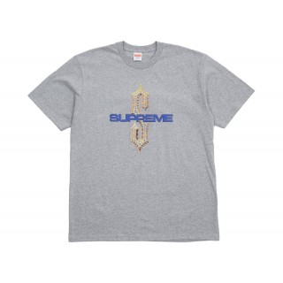 FW18 Supreme Diamonds Tee Heather Grey