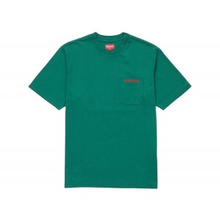 FW18 Supreme Embroidered Pocket Tee Green