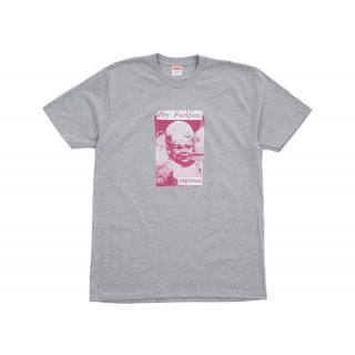 FW18 Supreme Fuck Face Tee Heather Grey