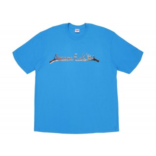 FW18 Supreme Fuck You Tee Bright Blue