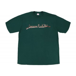 FW18 Supreme Fuck You Tee Dark Green