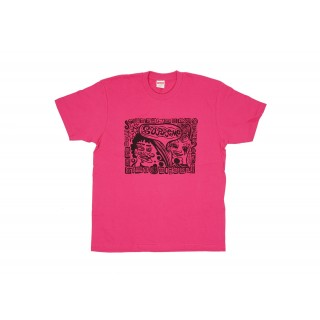 FW18 Supreme Faces Tee Dark Pink