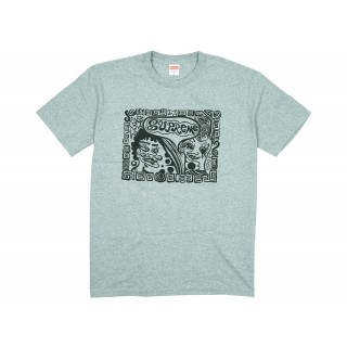 FW18 Supreme Faces Tee Heather Grey