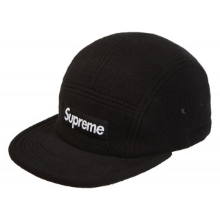 FW18 Supreme Fleece Pullcord Camp Cap Black