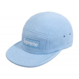 FW18 Supreme Fleece Pullcord Camp Cap Light Blue