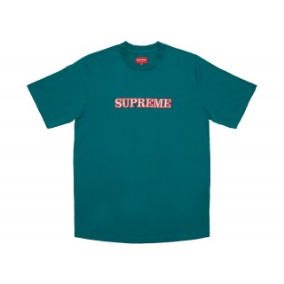 FW18 Supreme Floral Logo Tee Teal