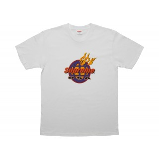 FW18 Supreme Fire Tee White
