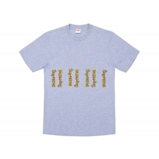 FW18 Supreme Gonz Logo Tee Heather Grey
