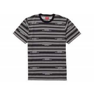FW18 Supreme HQ Stripe S/S Top Black
