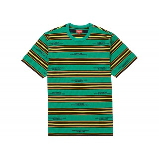 FW18 Supreme HQ Stripe S/S Top Green