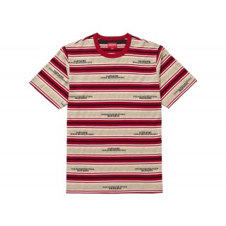 FW18 Supreme HQ Stripe S/S Top Tan