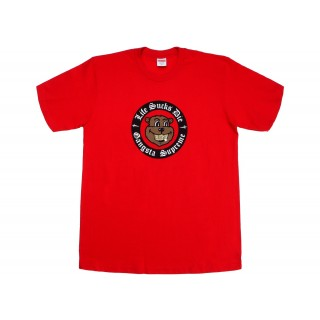 FW18 Supreme Life Sucks Die Tee Red