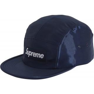 FW18 Supreme Liquid Silk Camp Cap Navy