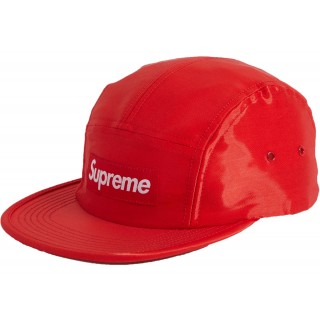 FW18 Supreme Liquid Silk Camp Cap Red