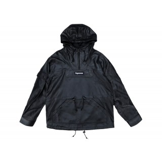 FW18 Supreme Leather Anorak Black