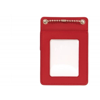 FW18 Supreme Leather ID Holder + Wallet Red