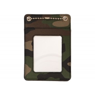 FW18 Supreme Leather ID Holder + Wallet Woodland Camo