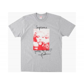 FW18 Supreme Madonna Tee Heather Grey