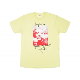 FW18 Supreme Madonna Tee Pale Yellow