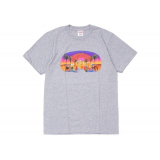 FW18 Supreme Mirage Tee Heather Grey