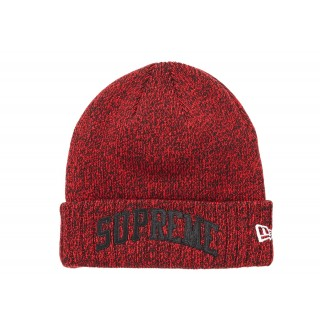 FW18 Supreme New Era Arc Logo Beanie Red