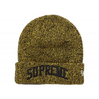 FW18 Supreme New Era Arc Logo Beanie Yellow