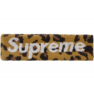 FW18 Supreme New Era Big Logo Headband (FW18) Leopard