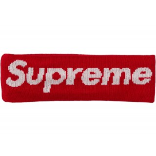 FW18 Supreme New Era Big Logo Headband (FW18) Red