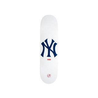 FW18 Supreme New York Yankees Skateboard Deck White