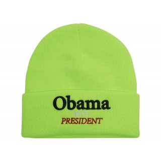 FW18 Supreme Obama Beanie Fluorescent Green