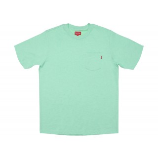 FW18 Supreme Pocket Tee Heather Light Green