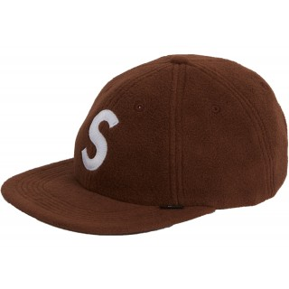 FW18 Supreme Polartec S Logo 6-Panel Brown