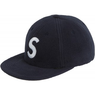 FW18 Supreme Polartec S Logo 6-Panel Navy